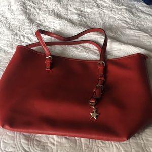Red carryall bag
